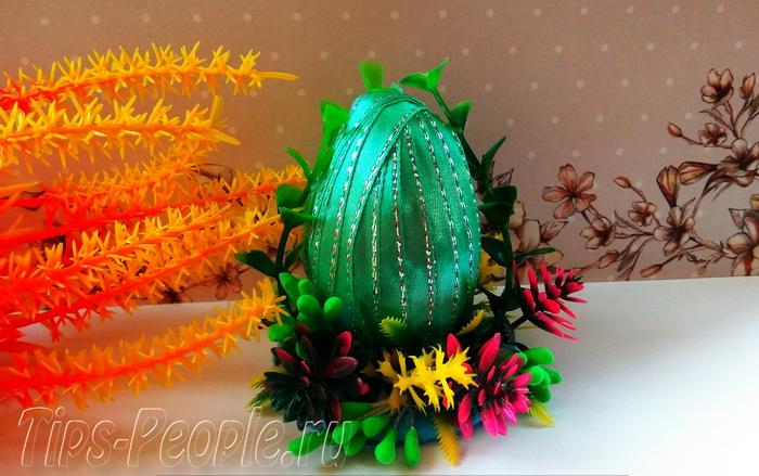 Пасхальное яйцо своими руками из лент