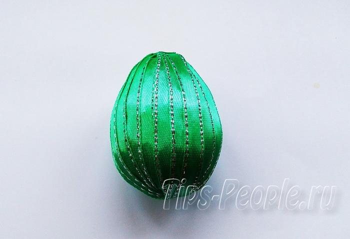 Пасхальное яйцо своими руками из лент - мастер класс
